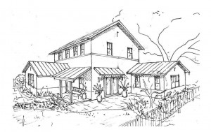 Little Gables Green Home Sketch