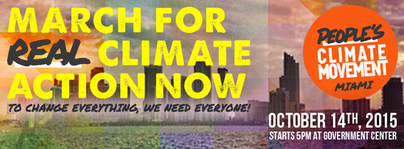 Peoples Climate March banner